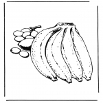 Disegni da colorare Vari temi - Banane
