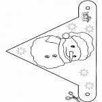 Lavori manuali - Bandiera - pupazzo di neve 2