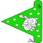 Disegni da colorare Natale - Bandierina Natale 10