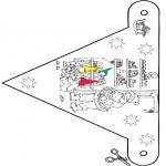 Disegni da colorare Natale - Bandierina Natale 9