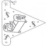 Disegni da colorare Temi - Bandierina per bebè 1