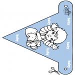 Disegni da colorare Temi - Bandierina per bebè 2