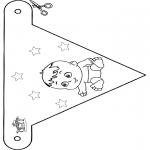 Disegni da colorare Temi - Bandierina per bebè 4