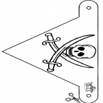 Lavori manuali - Bandierina pirata