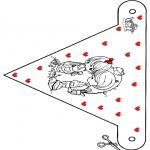 Disegni da colorare Temi - Bandierina San Valentino 9