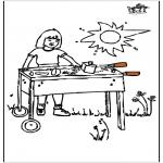 Disegni da colorare Vari temi - Barbecue
