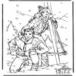 Disegni da colorare Inverno - Barbie dinverno