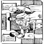 Disegni biblici da colorare - Battesimo ' Bibbia 1