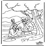 Disegni biblici da colorare - Battesimo di Gesù 1