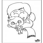 Disegni da colorare Temi - Bebè 11