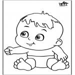 Disegni da colorare Temi - Bebè 12