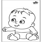 Disegni da colorare Temi - Bebè 13