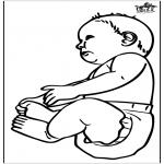 Disegni da colorare Temi - Bebè 16