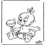 Disegni da colorare Temi - Bebè 4