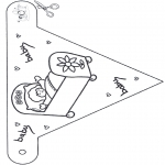 Lavori manuali - Bebè Bandierina