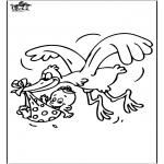Disegni da colorare Temi - Bebè - Ciconia ciconia 1
