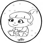 Disegni da colorare Temi - Bebè - Disegno da bucherellare 1