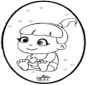 Bebè - Disegno da bucherellare 1