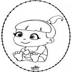 Disegni da colorare Temi - Bebè - Disegno da bucherellare 2