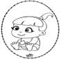 Bebè - Disegno da bucherellare 2