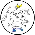 Disegni da colorare Temi - Bebè - Disegno da bucherellare 3
