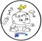 Bebè - Disegno da bucherellare 3