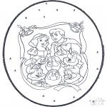 Disegni da bucherellare - Biancaneve - Disegno da bucherellare