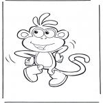 Disegni per i piccini - Boots la scimmia