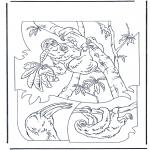 Disegni da colorare Animali - Bradipo