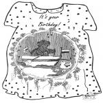 Disegni da colorare Temi - Buon compleanno