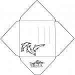 Lavori manuali - Busta delfino
