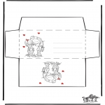 Lavori manuali - Busta - San Valentino 1