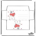 Disegni da colorare Temi - Busta - San Valentino 2