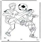 Disegni da colorare Vari temi - Calcio 1