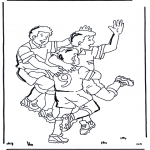 Disegni da colorare Vari temi - Calcio 3