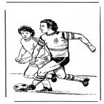 Disegni da colorare Vari temi - Calcio 4