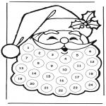 Disegni da colorare Natale - Calendario dellAvvento babbo natale