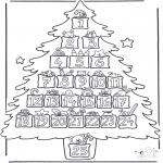 Disegni da colorare Natale - Calendario dellAvvento