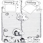 Lavori manuali - Calendario: parte 1