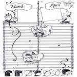 Lavori manuali - Calendario: parte 2