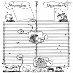 Lavori manuali - Calendario: parte 6