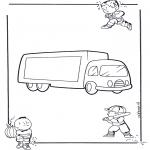Disegni da colorare Vari temi - Camion 1