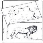 Disegni da colorare Animali - Cammello e leone