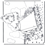 Disegni da colorare Vari temi - Campeggio 1