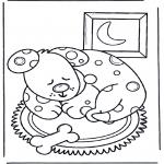 Disegni da colorare  Animali - Cane dormente