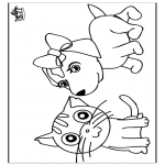 Disegni da colorare  Animali - Cane e gatto