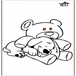 Disegni da colorare  Animali - Cane e ursidae