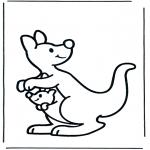 Disegni da colorare Animali - Canguro 2