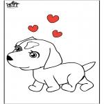 Disegni da colorare  Animali - Cani 7