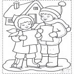 Disegni da colorare Inverno - Canti nella neve